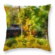 Japanese Garden Laura Bradley Park 02 Throw Pillow