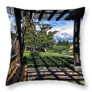 Japanese Garden Of Water And Fragrance 2 Throw Pillow