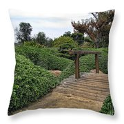 Japanese Garden Of Water And Fragrance 3 Throw Pillow