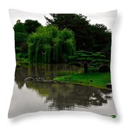 Japanese Garden Point Throw Pillow