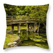 Japanese Garden Tokyo Throw Pillow