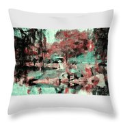 Japanese Garden's Throw Pillow