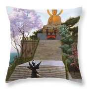 Japanese Imploring A Divinity Throw Pillow