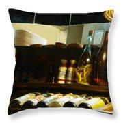 Japanese Kitchen And Sake Selection Throw Pillow