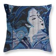 Japanese Lady Throw Pillow