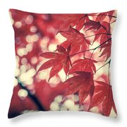 Japanese Maple Leaves - Vintage Throw Pillow