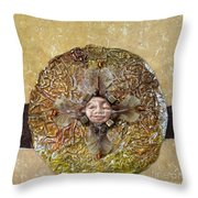 Japanese Maple Mandala Throw Pillow