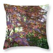 Japanese Maple Spring Throw Pillow