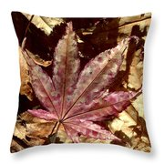 Japanese Maple Tree Leaves Throw Pillow