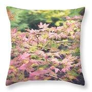 Japanese Maples Throw Pillow