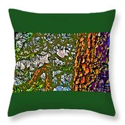 Japanese Pine Throw Pillow by Jean Hall