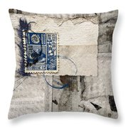 Japanese Postage 20 Sen Throw Pillow
