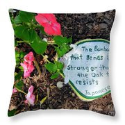 Japanese Proverb Throw Pillow