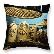 Japanese Sake Perfection Throw Pillow