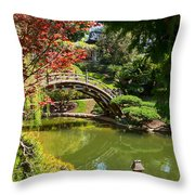 Japanese Spring - The Japanese Garden Of The Huntington Library. Throw Pillow