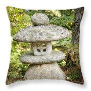 Japanese Stone Lantern Throw Pillow