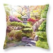 San Francisco Golden Gate Park Japanese Tea Garden  Throw Pillow
