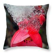 Ice Flower Throw Pillow
