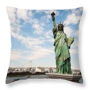 Japan's Statue Of Liberty Throw Pillow