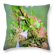 Japonica In Autumn Throw Pillow