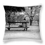 Jardin De Tuileries Throw Pillow