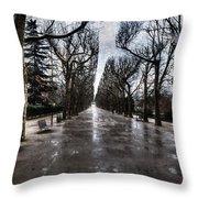 Jardin Des Plantes Paris France Throw Pillow