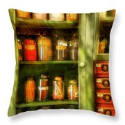 Jars - Ingredients II Throw Pillow by Mike Savad