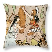 Jason Seizing The Golden Fleece Throw Pillow
