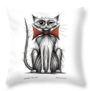 Jasper The Cat Throw Pillow