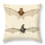 Javanese Bats Throw Pillow