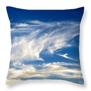 Jaws And Jet Nevada Sky Throw Pillow