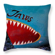 Jaws Boat Bow Throw Pillow