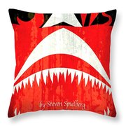 Jaws Minimalist Poster  Throw Pillow