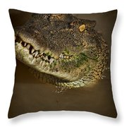 Jaws V6 Throw Pillow