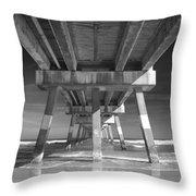 Jax Beach Pier Throw Pillow