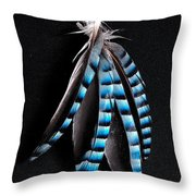 Jay Feather 2 Without Text Throw Pillow