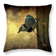 Jay On The Side Throw Pillow