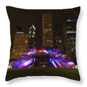 Jay Pritzker Pavilion Chicago Throw Pillow