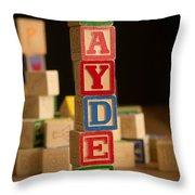 Jayden - Alphabet Blocks Throw Pillow