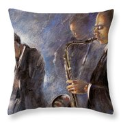 Jazz 01 Throw Pillow
