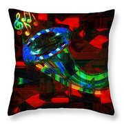 Jazz At Midnight Throw Pillow