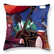 Jazz Band Throw Pillow