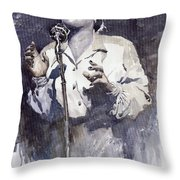 Jazz Billie Holiday Lady Sings The Blues Throw Pillow
