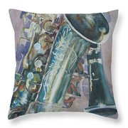 Jazz Buddies Throw Pillow