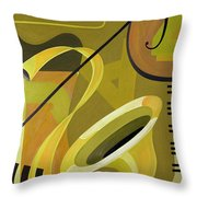 Jazz Throw Pillow by Carolyn Hubbard-Ford