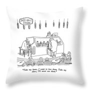 Jazz-deli Fusion Take My Hams Throw Pillow