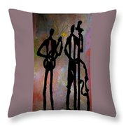Jazz Duet Throw Pillow