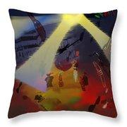Jazz Fest II Throw Pillow