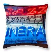 Jazz Funeral And Lamp Nola Throw Pillow