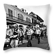 Jazz Funeral Bw Throw Pillow